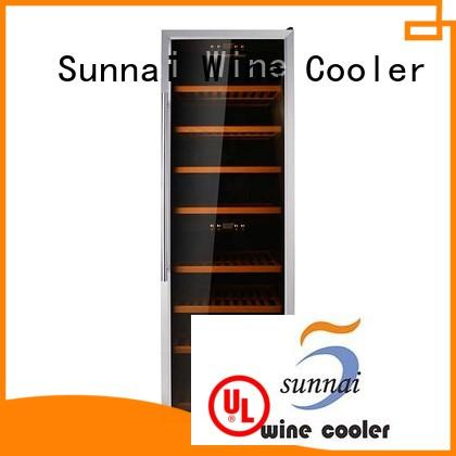 online stainless steel door wine cooler size supplier for work station