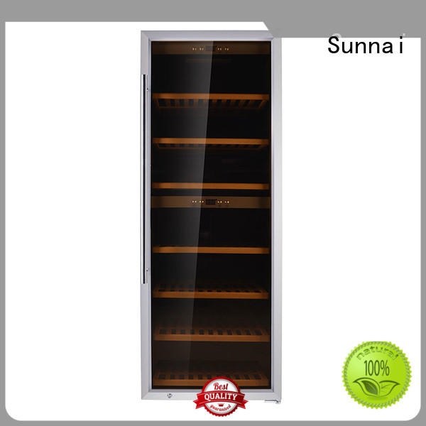 Sunnai durable dual zone wine fridge supplier for work station