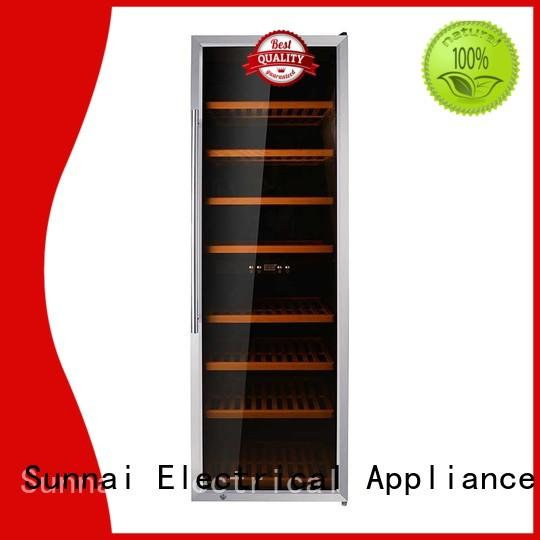 Sunnai single single zone wine refrigerator manufacturer for indoor