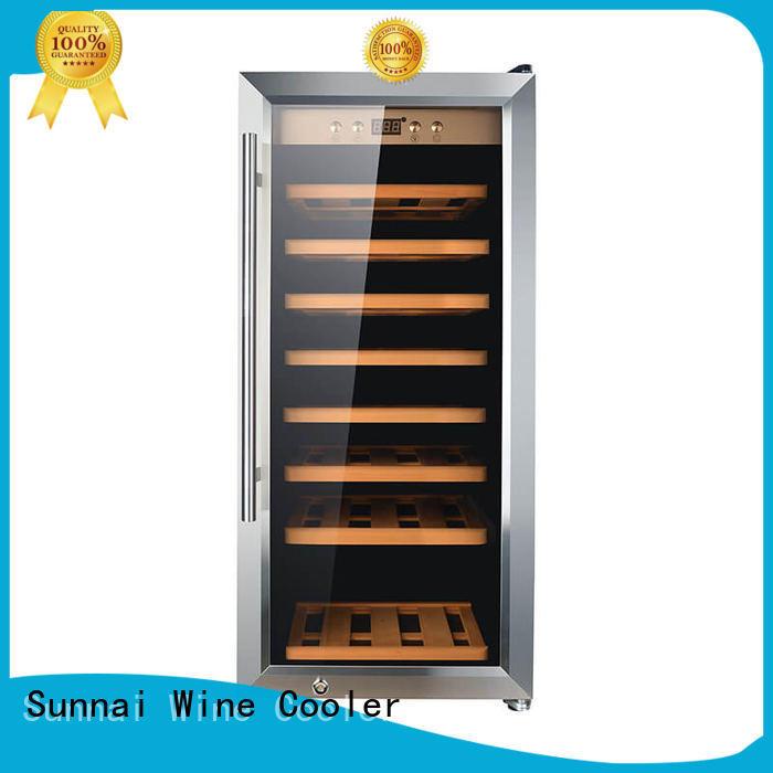 Sunnai beech wine bottle cooler refrigerator for indoor