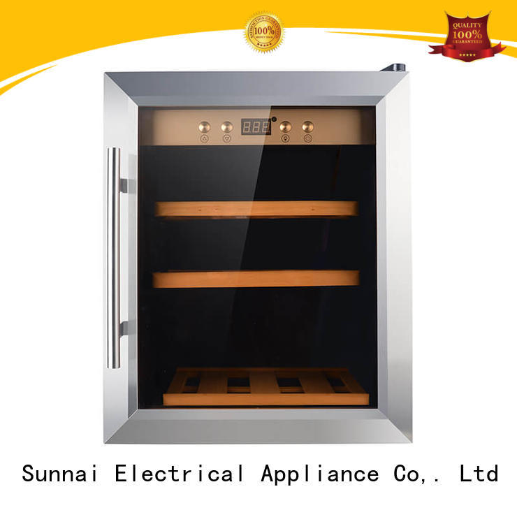 Sunnai safety compressor wine cooler dual zone wholesale for indoor