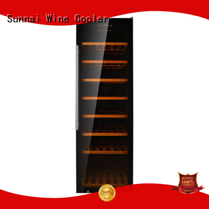 single dual zone freestanding wine cooler fridge series for work station