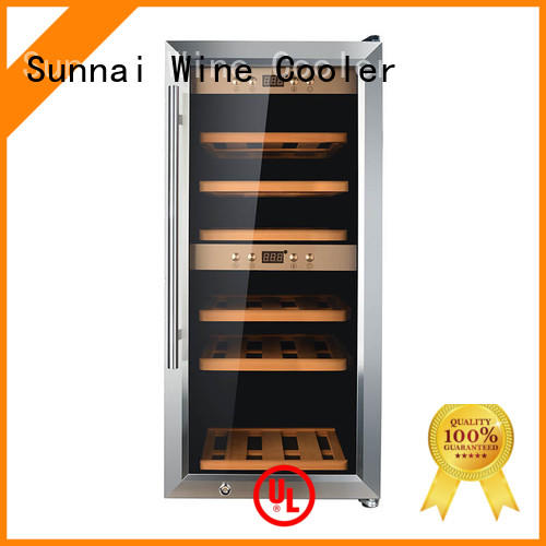 Sunnai black dual zone wine fridge manufacturer for home