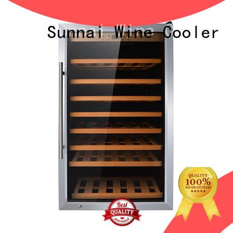 wine freestanding wine cooler steel series for home