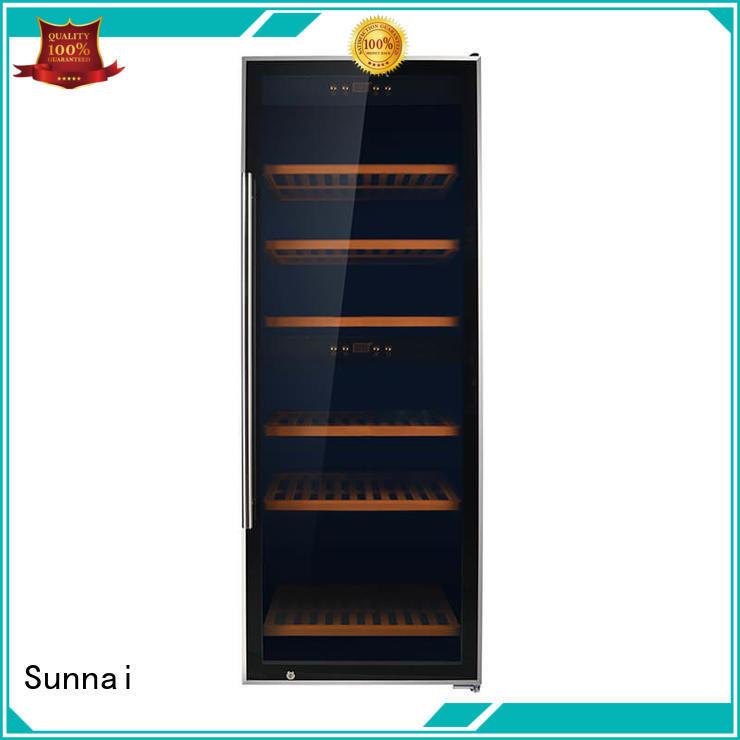 Sunnai black wine storage cooler manufacturer for home