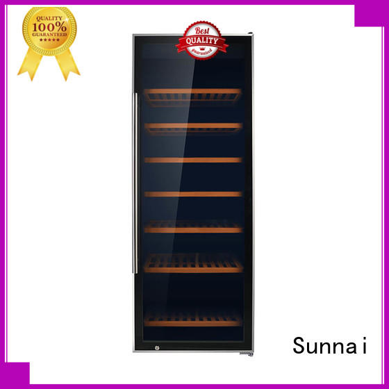 Sunnai table single zone wine refrigerator series for work station