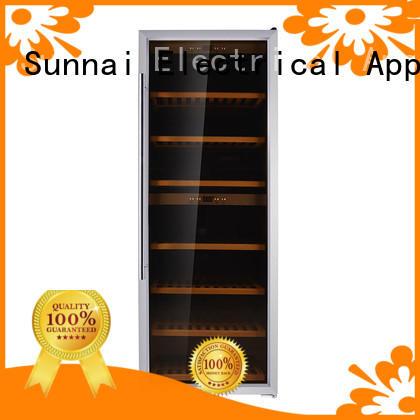 Sunnai freestanding dual zone freestanding wine cooler refrigerator for home
