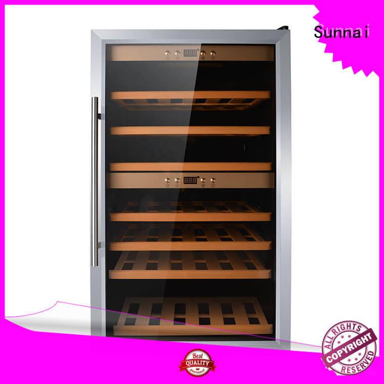 Sunnai door wine storage refrigerator manufacturer for work station