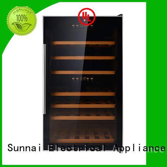 Sunnai high quality dual zone wine fridge refrigerator for indoor