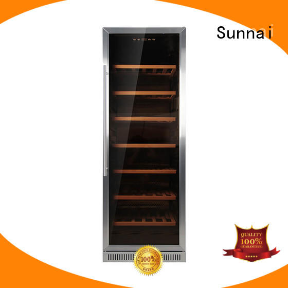 Sunnai double double doors wine cooler series for indoor