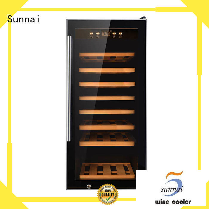 Sunnai durable dual zone wine fridge wholesale for indoor