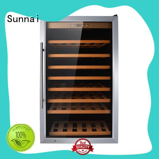 Sunnai black single zone wine fridge series for work station