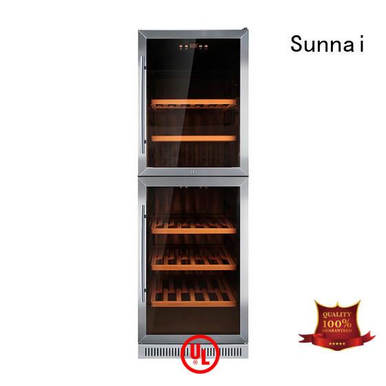 durable double doors wine cooler dual cooler for indoor