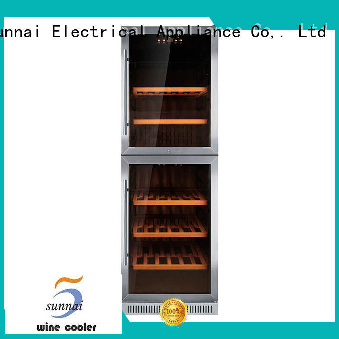 Sunnai high quality double doors wine cooler cooler for work station
