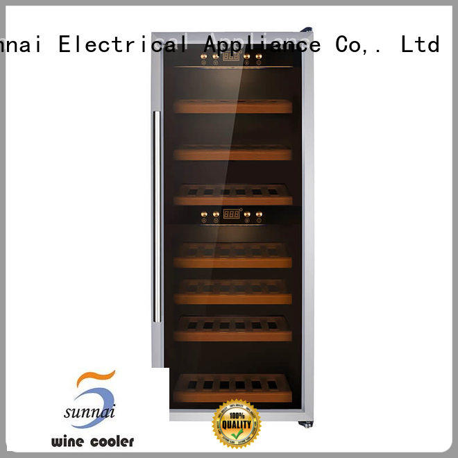 Sunnai smaller integrated wine cooler stainless shop