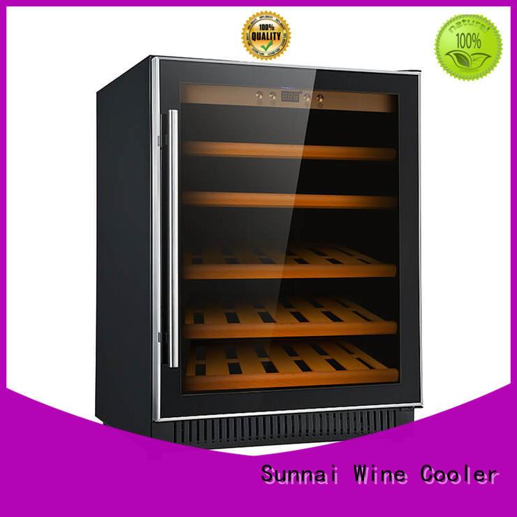 Sunnai black compressor wine coolers supplier for indoor