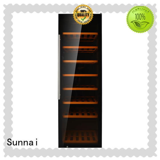 Sunnai chiller free standing wine refrigerator refrigerator for work station