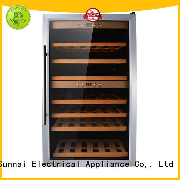 Sunnai steel freestanding wine fridge manufacturer for shop