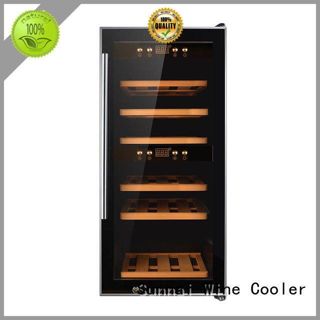 Sunnai zone stainless steel door wine cooler wholesale for indoor