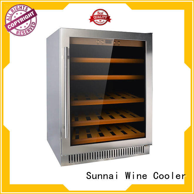 Sunnai high quality under counter wine fridge cooler for indoor