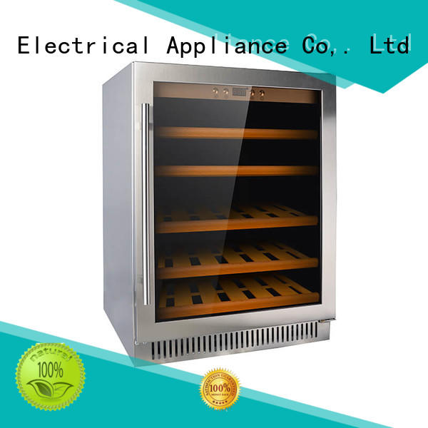 double single zone wine fridge stainless cooler for work station