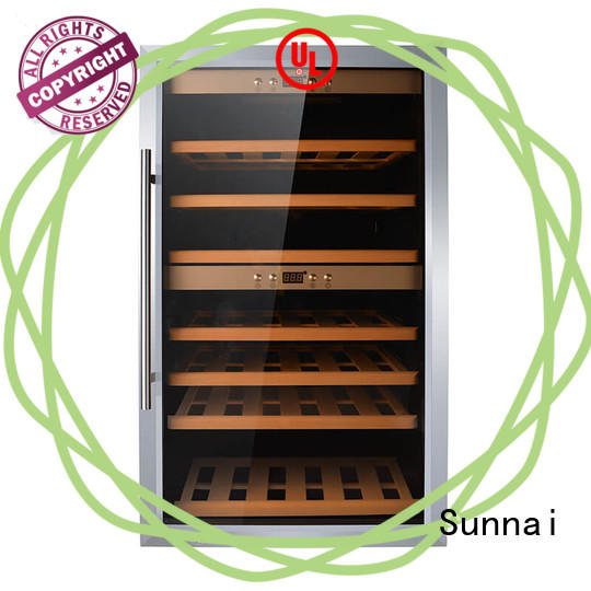 Sunnai high quality dual zone wine refrigerator wholesale for indoor