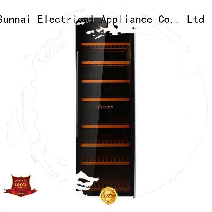 black freestanding wine fridge steel manufacturer for indoor