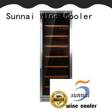 Sunnai single dual zone undercounter wine cooler cooler for shop