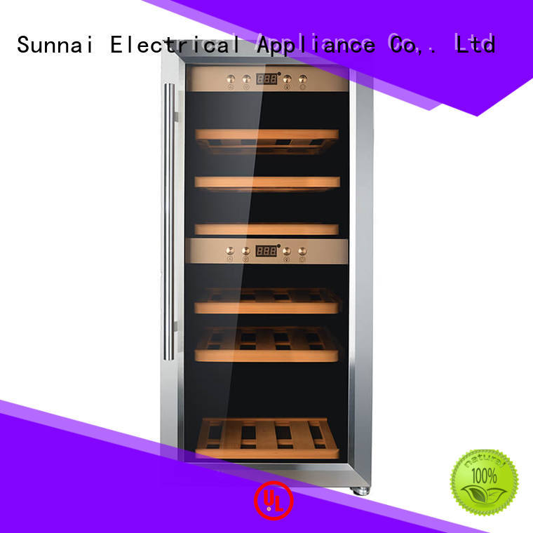 Sunnai safety freestanding wine cooler product for indoor