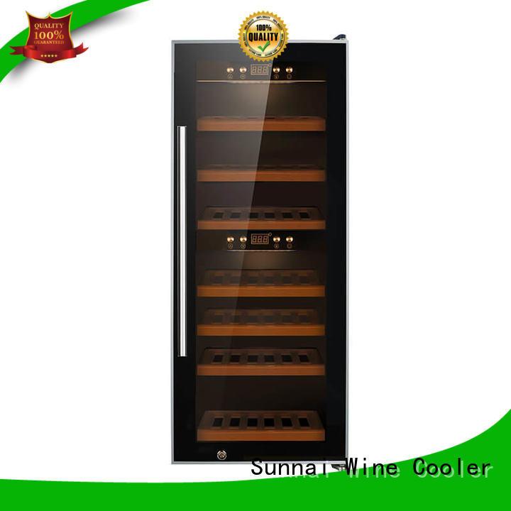 panel freestanding wine cooler double station Sunnai