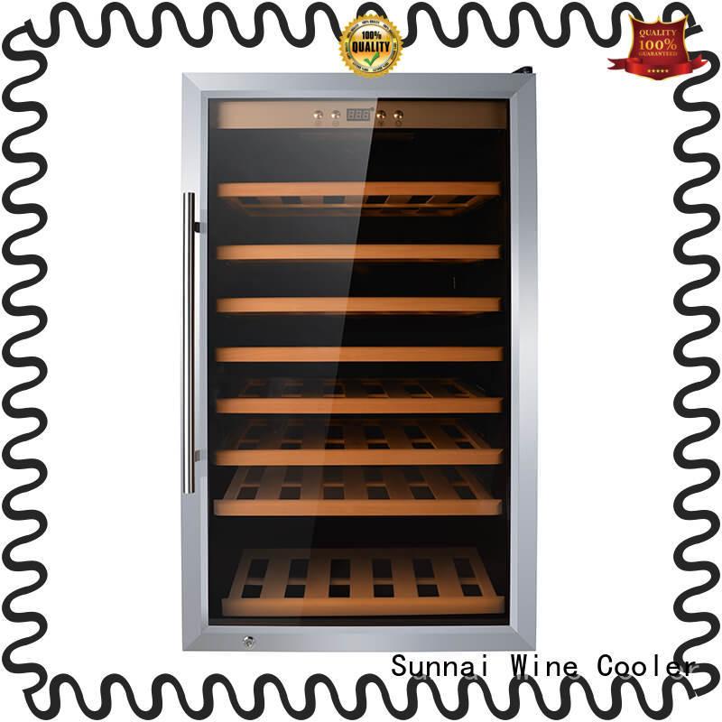Sunnai durable small wine fridge beech for indoor