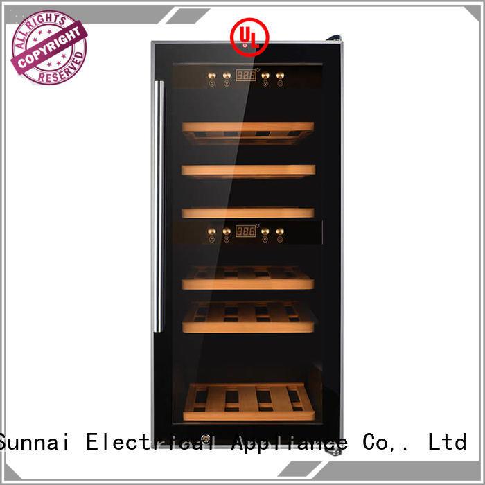 Sunnai freestanding single zone wine cooler series for work station