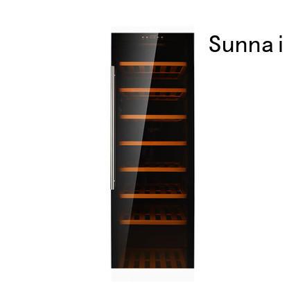 Sunnai steel dual zone wine refrigerator wholesale for work station