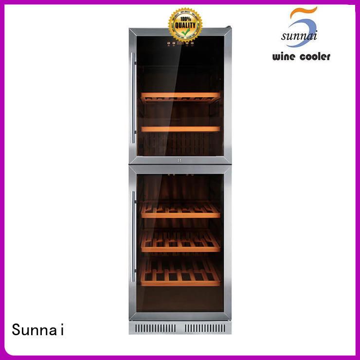 durable single zone wine fridge black series for work station