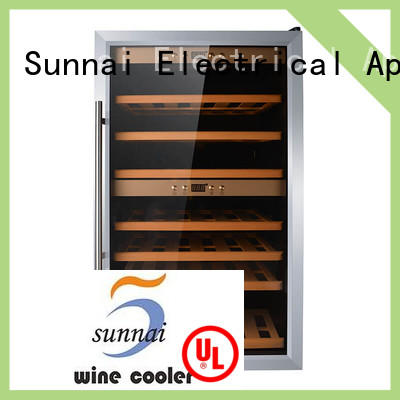 Sunnai double freestanding wine cooler product for home