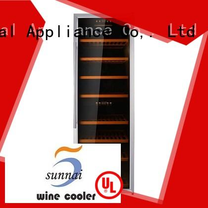 Sunnai durable freestanding wine cooler refrigerator for indoor