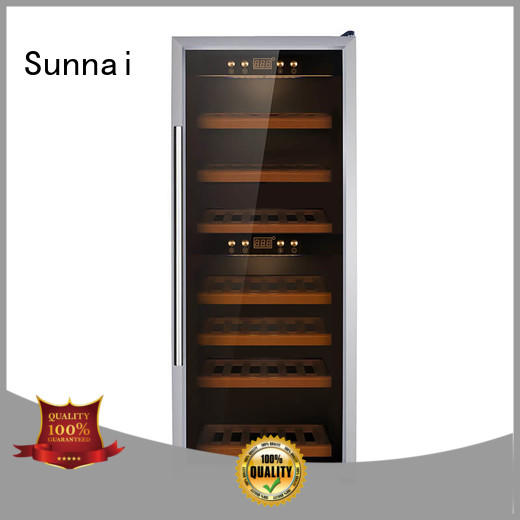 Sunnai beech wine cooler refrigerator product for shop