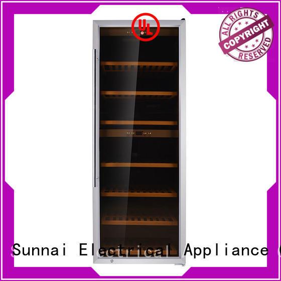 Sunnai beech single zone wine refrigerator series for work station