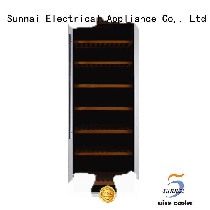 Sunnai wine dual zone wine cooler refrigerator for shop