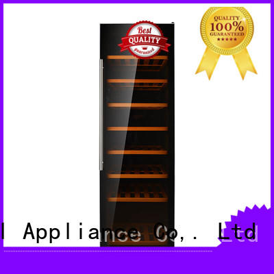 professional dual zone wine refrigerator beech series for shop