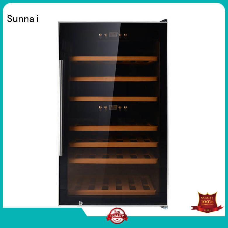 Sunnai single dual zone wine fridge product for home