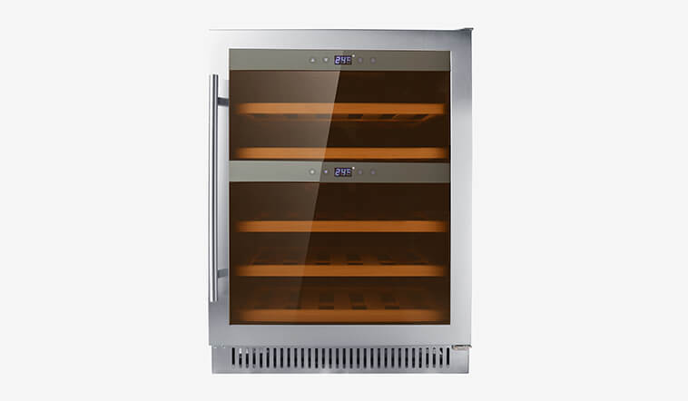 Sunnai panel dual zone undercounter wine cooler series for indoor-1