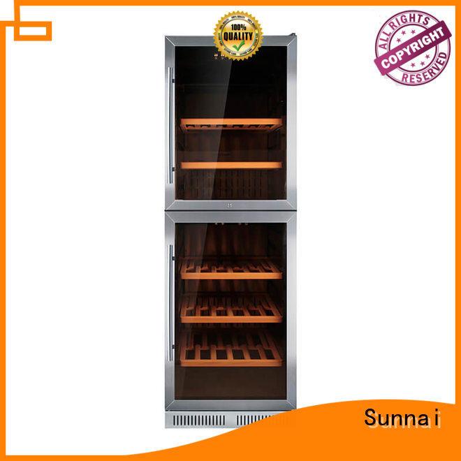 durable double doors wine cooler panel compressor for home