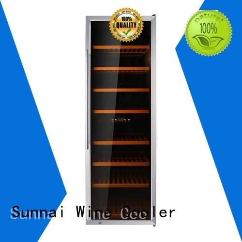 Sunnai double freestanding wine cooler supplier for shop