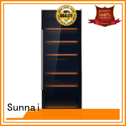 durable freestanding wine cooler wood product for shop