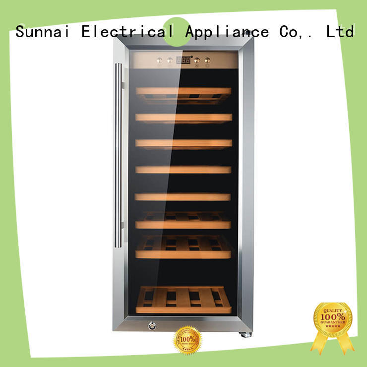 Sunnai high quality dual zone wine cooler wholesale for indoor