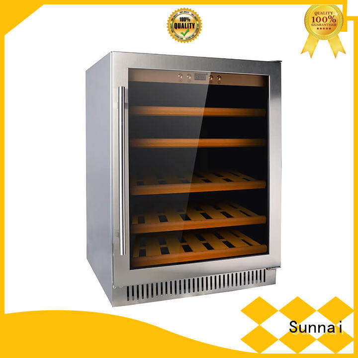 double under counter wine cooler panel series for work station