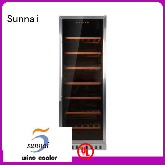 door slim undercounter wine cooler silver for work station Sunnai