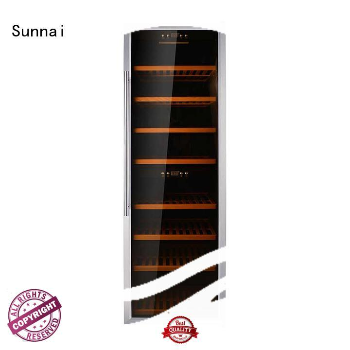 Sunnai professional dual zone wine fridge manufacturer for indoor