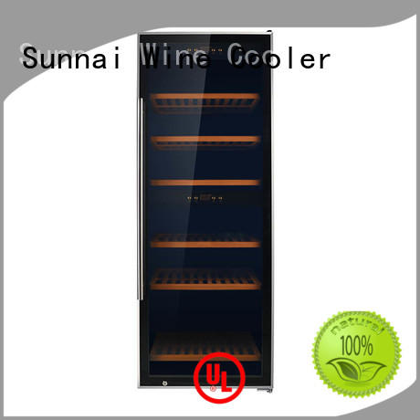 Sunnai double stainless steel door wine cooler manufacturer for work station